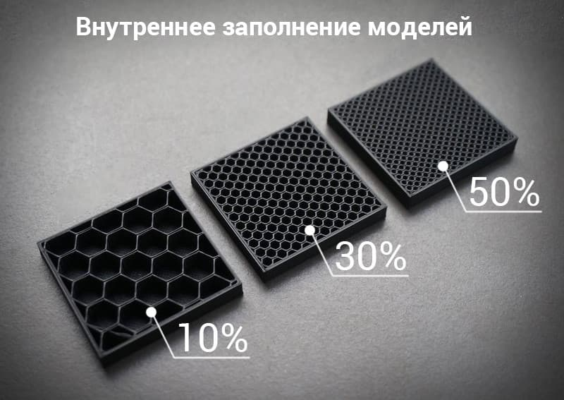 процент заполнения при 3д печати