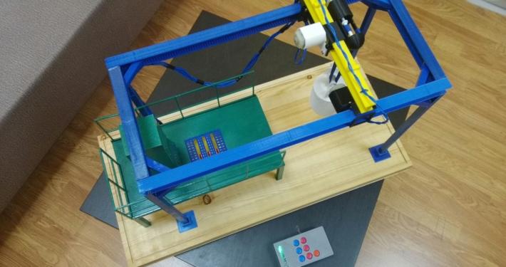 3д печать макетов, макет с пультом управления