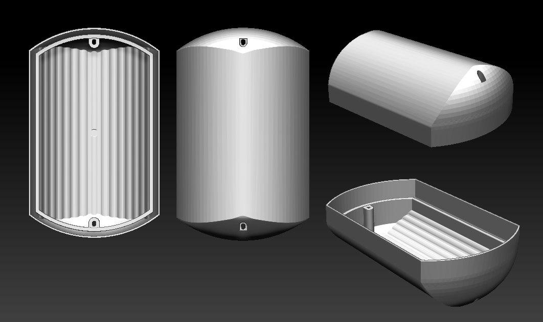 3D модель плафона